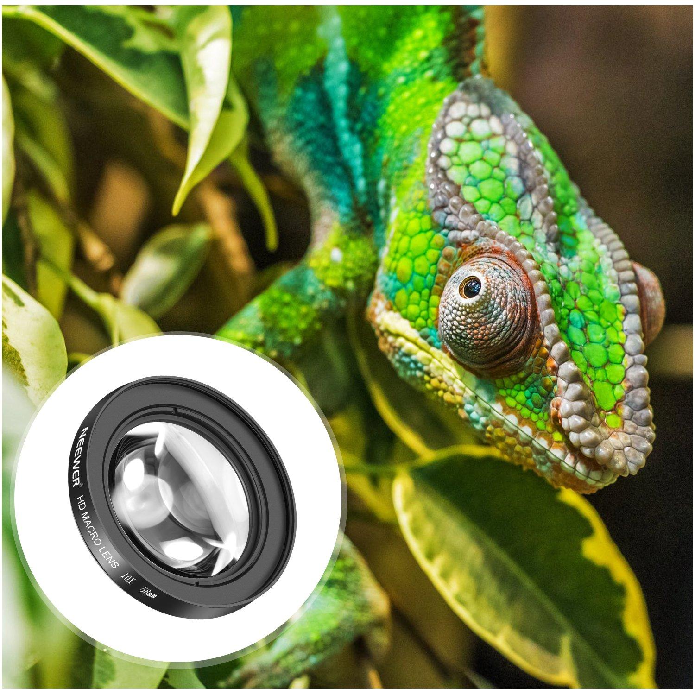 Neewer 58mm 10X Objectif Macro Close-Up avec HD Verre Optique pour Canon  EOS 80D, 70D, 60D, 50D, 1Ds, 7D, 6D, 5D, 5DS, T6s, T6i, T6, T5i, T5, T4i,  T3i, ... 73f4ac8e043c