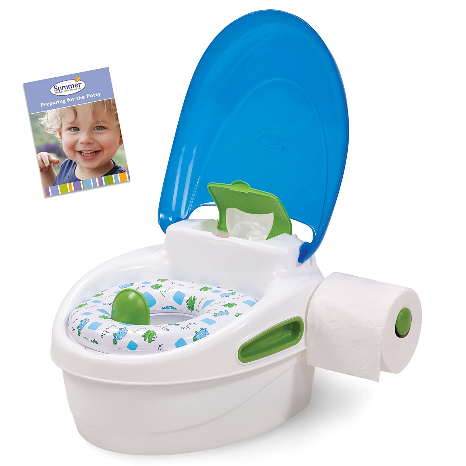 Amazon.com  Summer Infant Step-By-Step Potty Trainer and Step Stool Blue/ Green  Toilet Training Potties  Baby  sc 1 st  Amazon.com : potty chair step stool - islam-shia.org
