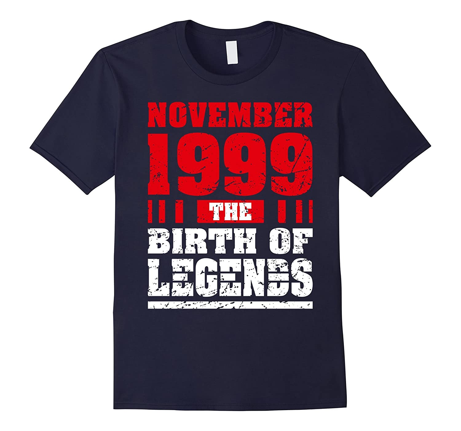18 Years Old 18th Birthday Tee Born in November 1999 Clothes-Rose