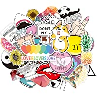 Stickers, 46 stuks Decoratieve Stickers, Waterdichte Vinyl Grappige Stickers, Leuke Stickers Voor Waterflessen Auto's…