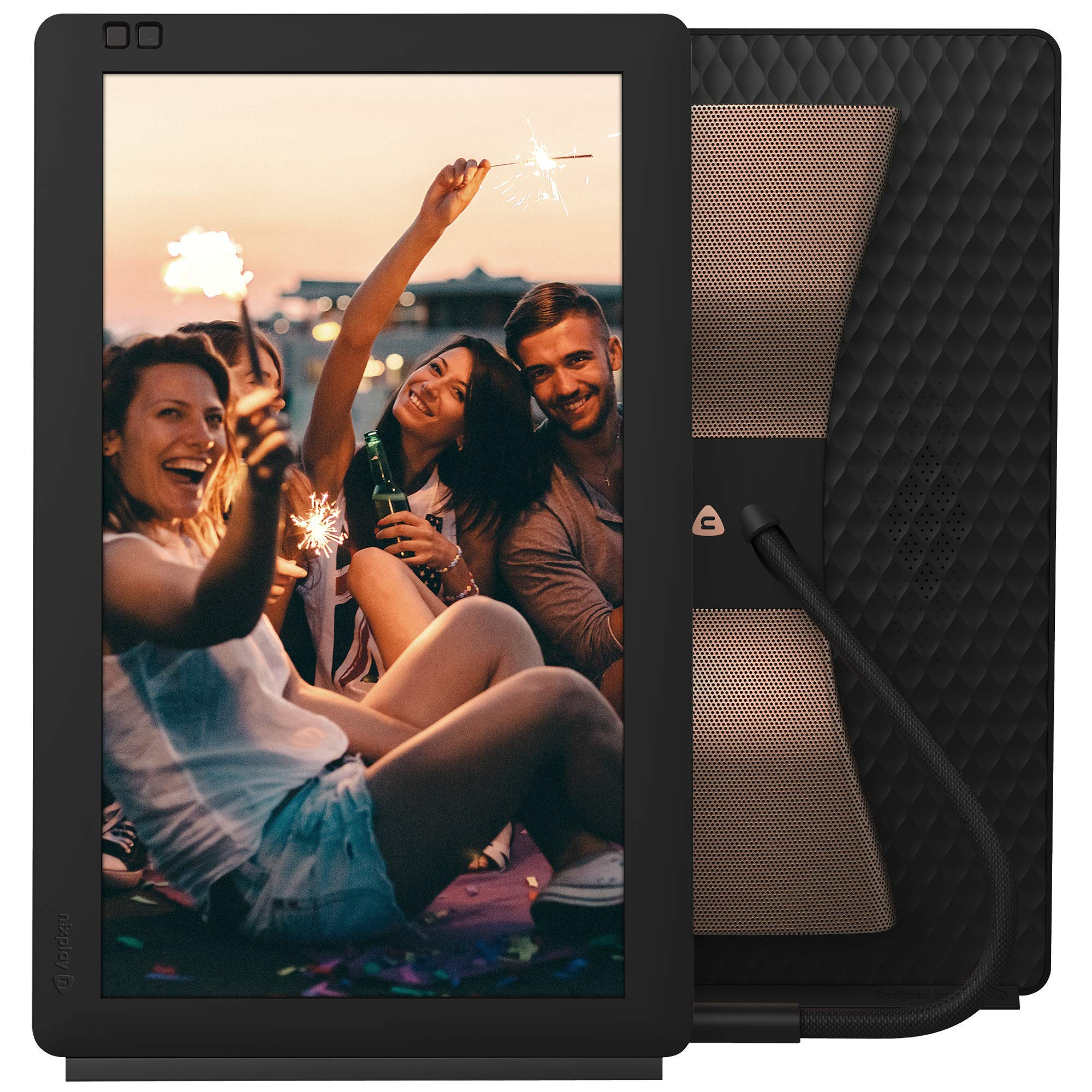Nixplay Seed Wave 13.3 Inch WiFi Digital Picture Frame with Bluetooth Speakers - Share Moments Instantly via App or E-Mail