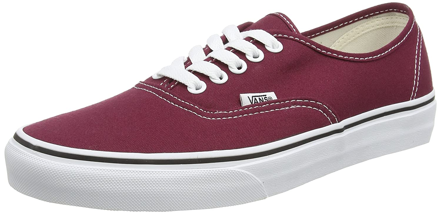Amazon | Vans Unisex Authentic Cordovan/True White Sneaker  5 5 |  Fashion Sneakers