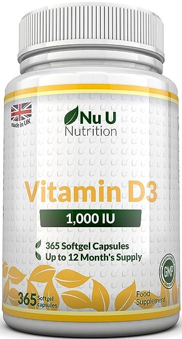 30 opinioni per Vitamina D3 1000UI 365 Capsule Softgel
