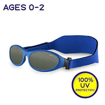 "0a80ef0a11 Idol Eyes Kids Sunglasses for Kids – ""Baby Wrapz"" Baby Sunglasses with  Strap for"