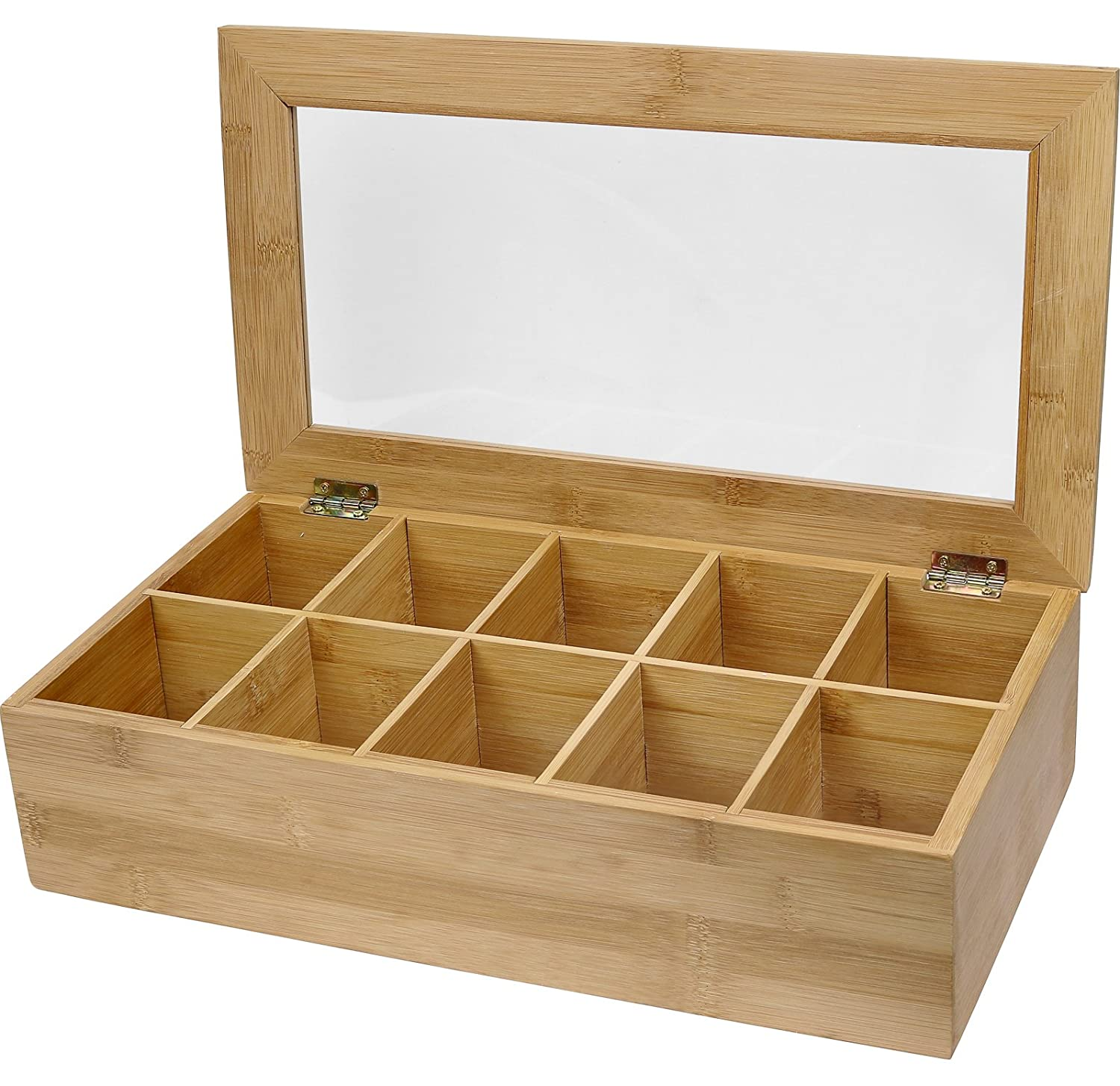 Incroyable Amazon.com: Estilo Bamboo Tea Storage Box, 10 Equally Divided Compartments:  Kitchen U0026 Dining