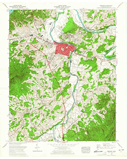 Amazon Com Yellowmaps Newport Tn Topo Map 1 24000 Scale 7 5 X