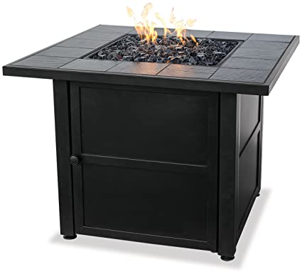 Charmant Endless Summer, GAD1399SP, LP Gas Outdoor Fire Bowl With Slate Tile Mantel