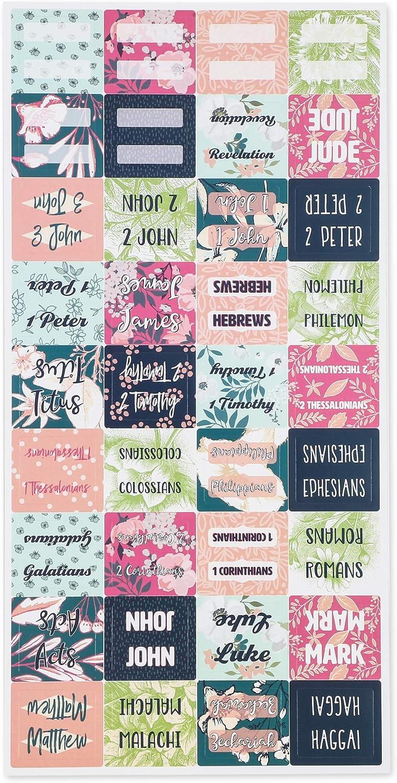 3 x 2,5 cm, 144 autocollants Peel and Stick Onglets dindexation de la bible motifs floraux
