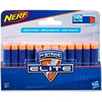 NERF Elite - 12 Pack official Darts - Compatible with Fortnite Scar AR-L, Supressed Pistol SP-L, Rhinofire, Infinus & Hyperfire Blasters