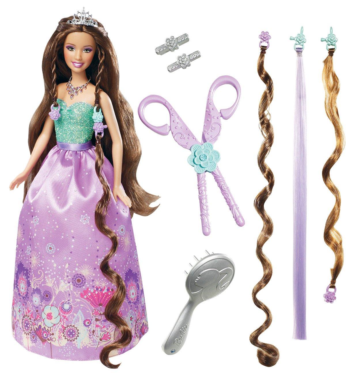 Mattel T7363  - Barbie, Zauber Haarspiel Prinzessin, Puppe, lila