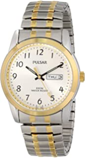 Pulsar Mens Two-Tone Calendar Dress Watch