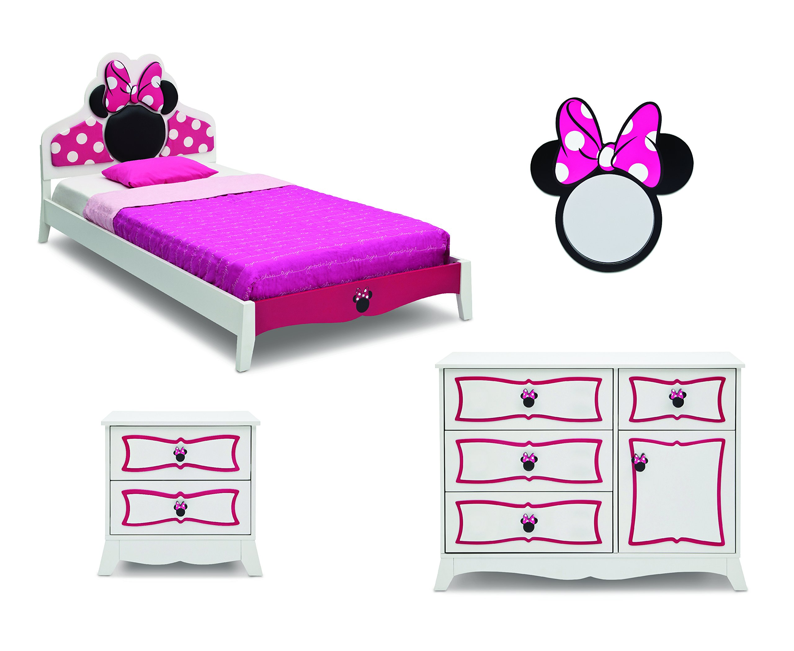 Delta Children Twin Bedroom Collection, Disney Minnie Mouse