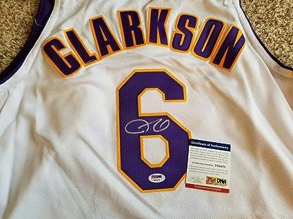 reputable site bdc5d 56c0d Jordan Clarkson Lakers Autographed Signed Memorabilia Jersey ...