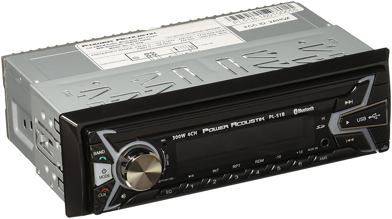 Power Acoustik Pl 51b 1 Din Digital Audio Head Unit With Wiring Harness 32gb Usb Sd Aux Bluetooth Car Electronics