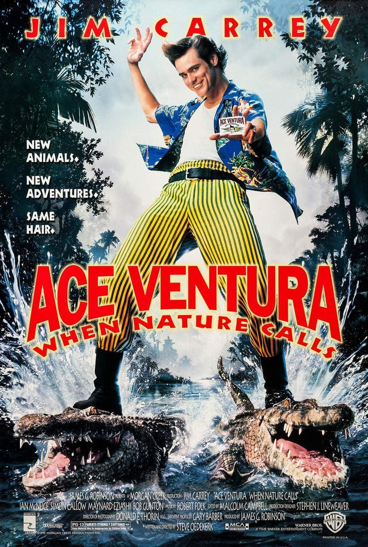 ACE VENTURA WHEN NATURE CALLS MOVIE POSTER 2 Sided ORIGINAL FINAL 27x40 JIM CARREY