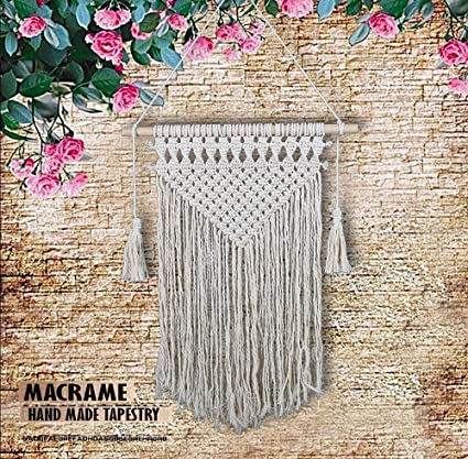 Amazoncom Macrame Wall Hanging Woven Tapestry Decorative Bohemian