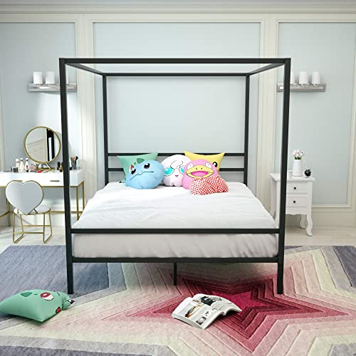 mecor Modern Metal Canopy Bed Frame