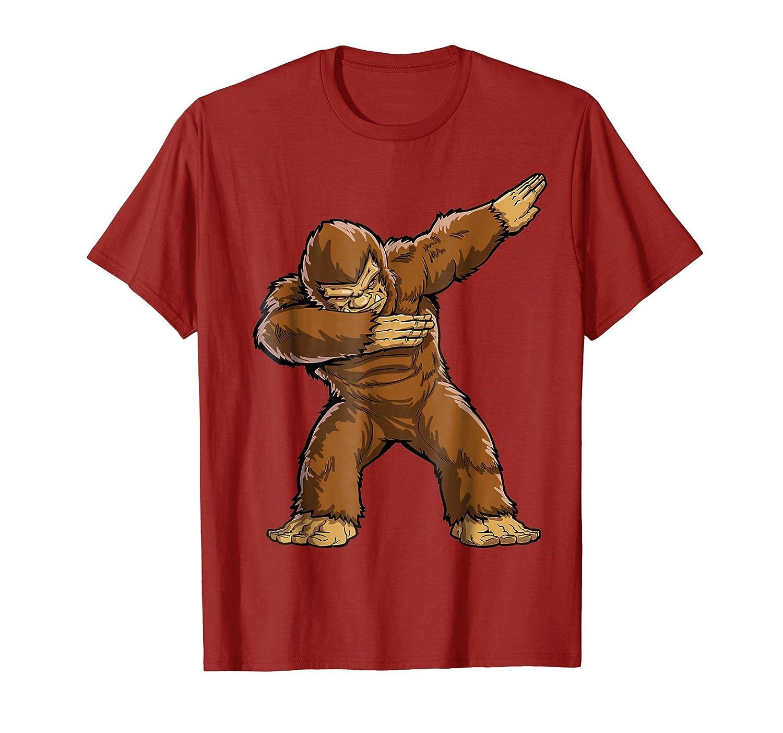 d3f3203c8 ... Bigfoot Sasquatch Dabbing T Shirt Funny Dab Monster Gifts-Bawle ...
