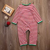 Baby Boys Girls Long Sleeve Christmas Striped Red