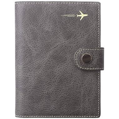 Passport Holder Cover Wallet RFID Blocking Leather Card Case Travel Document Organizer
