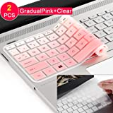 [2Pack] Keyboard Cover Skin for 15.6 HP Pavilion X360 15-BR075NR 15M-BP012DX BP011DX BP111DX BP112DX 15M-BQ021DX BQ121DX, 15-