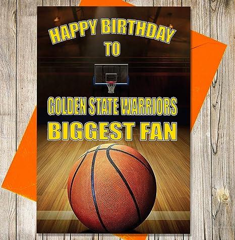 Baloncesto Tarjeta de cumpleaños – Golden State Warriors Biggest ...