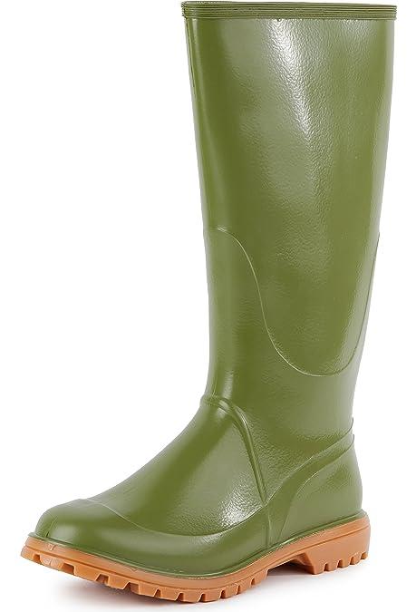 Ladeheid Botas de Agua Zapatos de Seguridad Hombre LABN65 (Verde, EU 41)