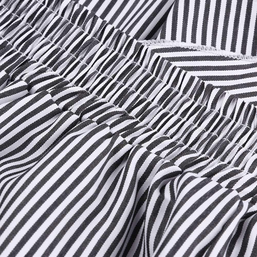 Sylar Pantalones De Mujer Elegantes Cintura Alta Moda Rayas Suelto ...