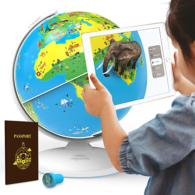 Amazon.com: Orboot de Shifu: El globo terráqueo educativo de realidad aumentada   Juguete Stem para niños y niñas de 4 a 10 años   Ideal para regalo (sin fronteras ni nombres en el globo): Toys & Games