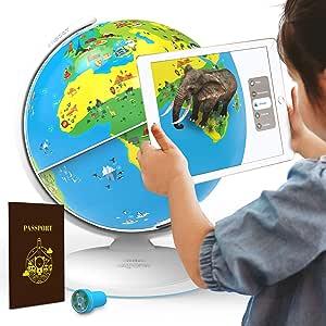 PlayShifu Shifu Orboot: el globo educativo basado en realidad aumentada | STEM juguete para niños y niñas de 4 a 10 años para niños (sin fronteras o nombres en el globo)