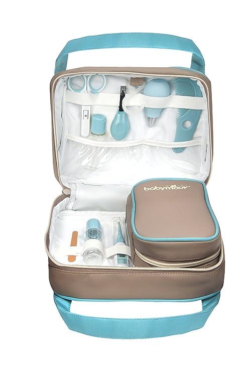 Babymoov A032001 - Estuche de cuidado para bebé, color gris y azul