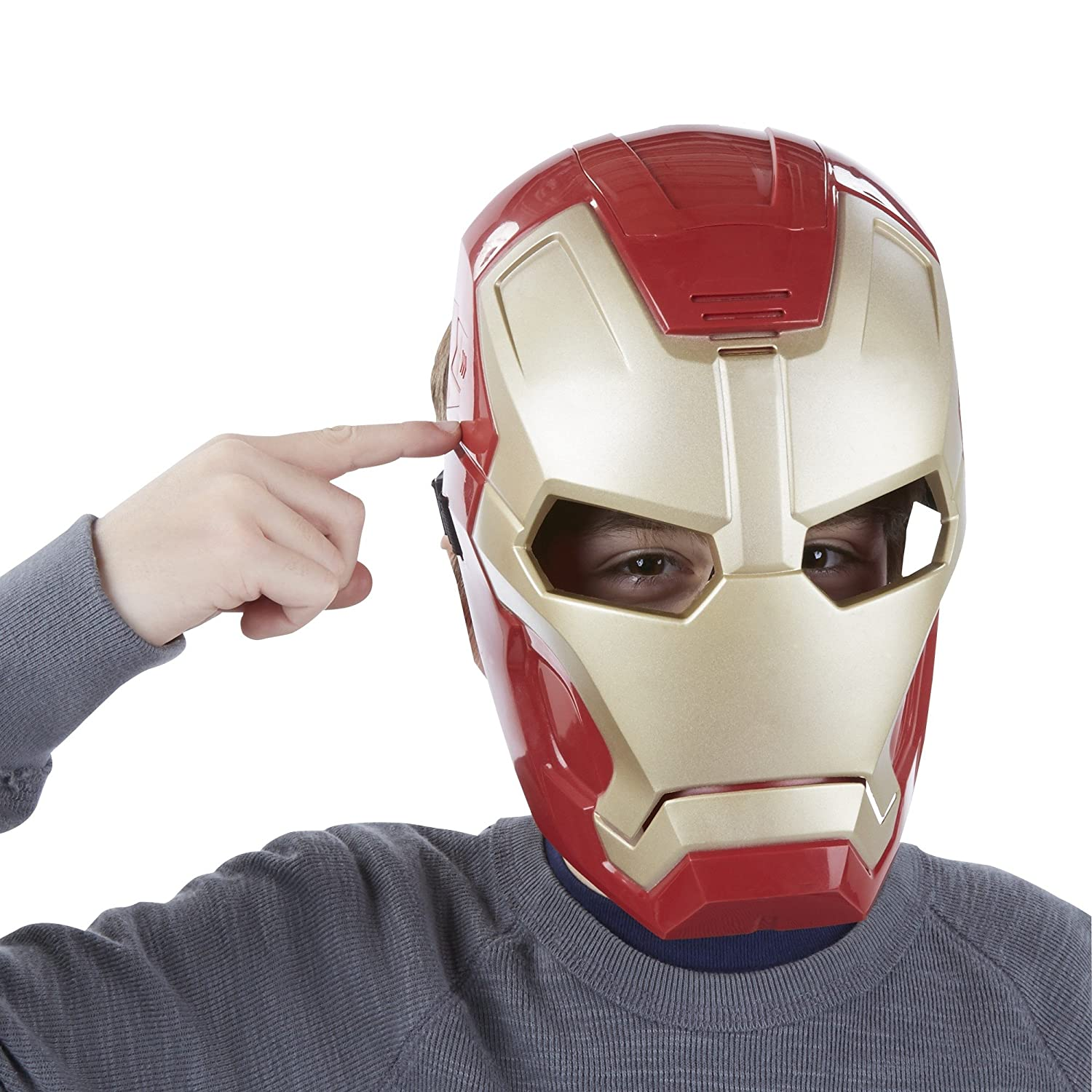 MARVEL - IRON MAN - MÁSCARA CON MODULADOR VOZ / MASK WITH VOICE CHANGER: Amazon.es: Juguetes y juegos