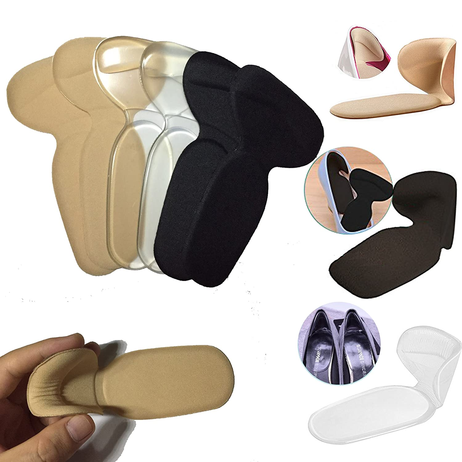 541b8c7d12662 Amazon.com: Heel Pads Cushion Grips, Gel Inserts Insoles Liners for ...
