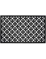 DII Indoor Outdoor Rubber Easy Clean Entry Way Welcome Doormat, Floor Mat, Rug For Patio,Front Door,18 x 30inch - Lattice