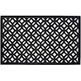 DII Indoor Outdoor Rubber Easy Clean Entry Way Welcome Doormat, Floor Mat, Rug For Patio, Front Door, All Weather Exterior Do