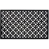 DII Rubber Doormat for Indoor and Outdoor Entryway, Front Door, & Patio - 18x30, Lattice