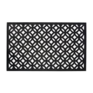 "DII Indoor Outdoor Rubber Easy Clean Entry Way Welcome Doormat, Floor Mat, Rug For Patio, Front Door, All Weather Exterior Doors, 18 x 30"" - Lattice"
