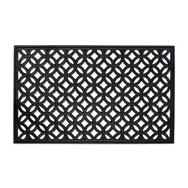DII Indoor Outdoor Rubber Easy Clean Entry Way Welcome Doormat, Floor Mat, Rug For Patio, Front Door, All Weather Exterior Doors, 18 x 30  - Lattice