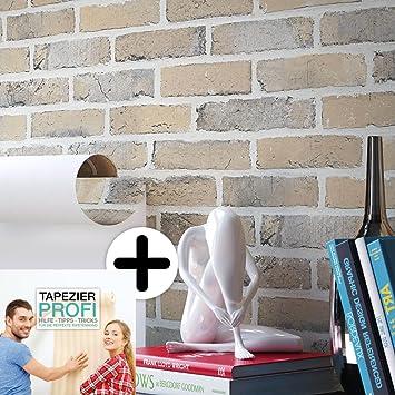 Perfekt Steintapete Vliestapete Grau Creme , Schöne Edle Tapete Im Steinmauer  Design , Moderne 3D Optik Für