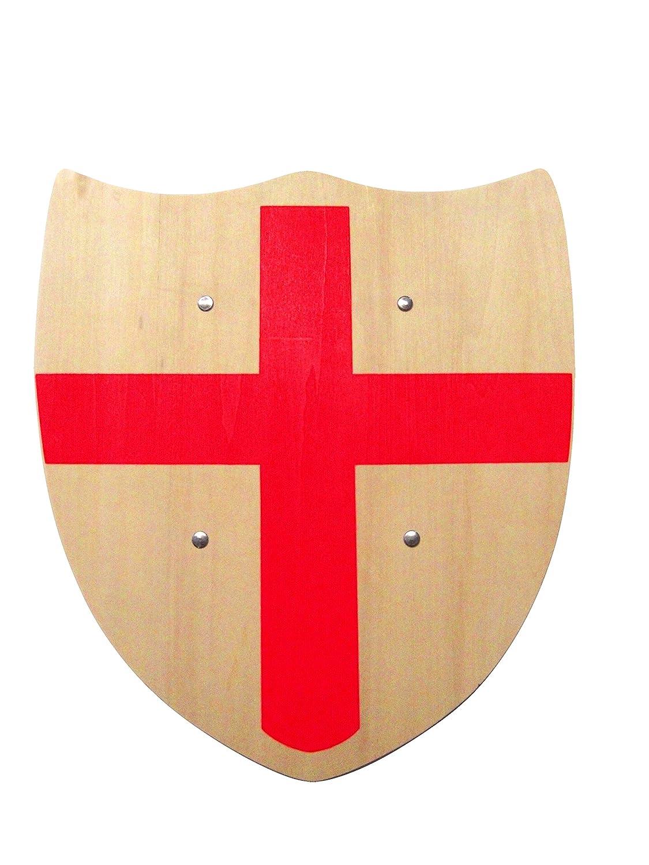 J.G.Schrödel Panneau en Bois avec Croix Rouge pour Jeux de Chevalier en Bois Massif résistant avec équipement de Carnaval et médiéval 30 x 33 cm J.G. Schrödel 9800217