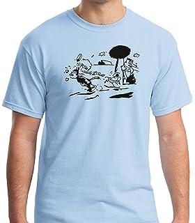 Camiseta con diseño de Krazy Kat, 100 % algodón preencogido, color azul claro