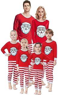 Amazon.com  Matching Family Christmas Pajamas Boys Girls Elk Jammies ... 5d6e9ae1e