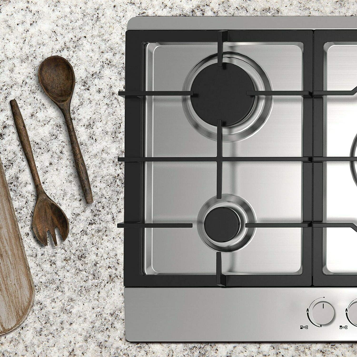 90cm Wide 5 Zone Prodex PXGH90SS Gas Hob Stainless Steel