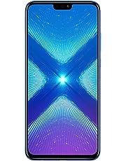 "Huawei Honor 8X (64GB + 4GB RAM) 6.5"" HD 4G LTE GSM Factory Unlocked Smartphone - International Version No Warranty  (blue)"