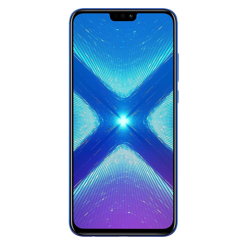 Huawei Honor 8X (64GB + 4GB RAM) 6.5' HD 4G LTE GSM Factory Unlocked Smartphone - International Version No Warranty JSN-L23 (Blue)