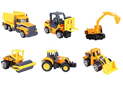 amazon com d mcark mini metal die cast kids construction vehicles