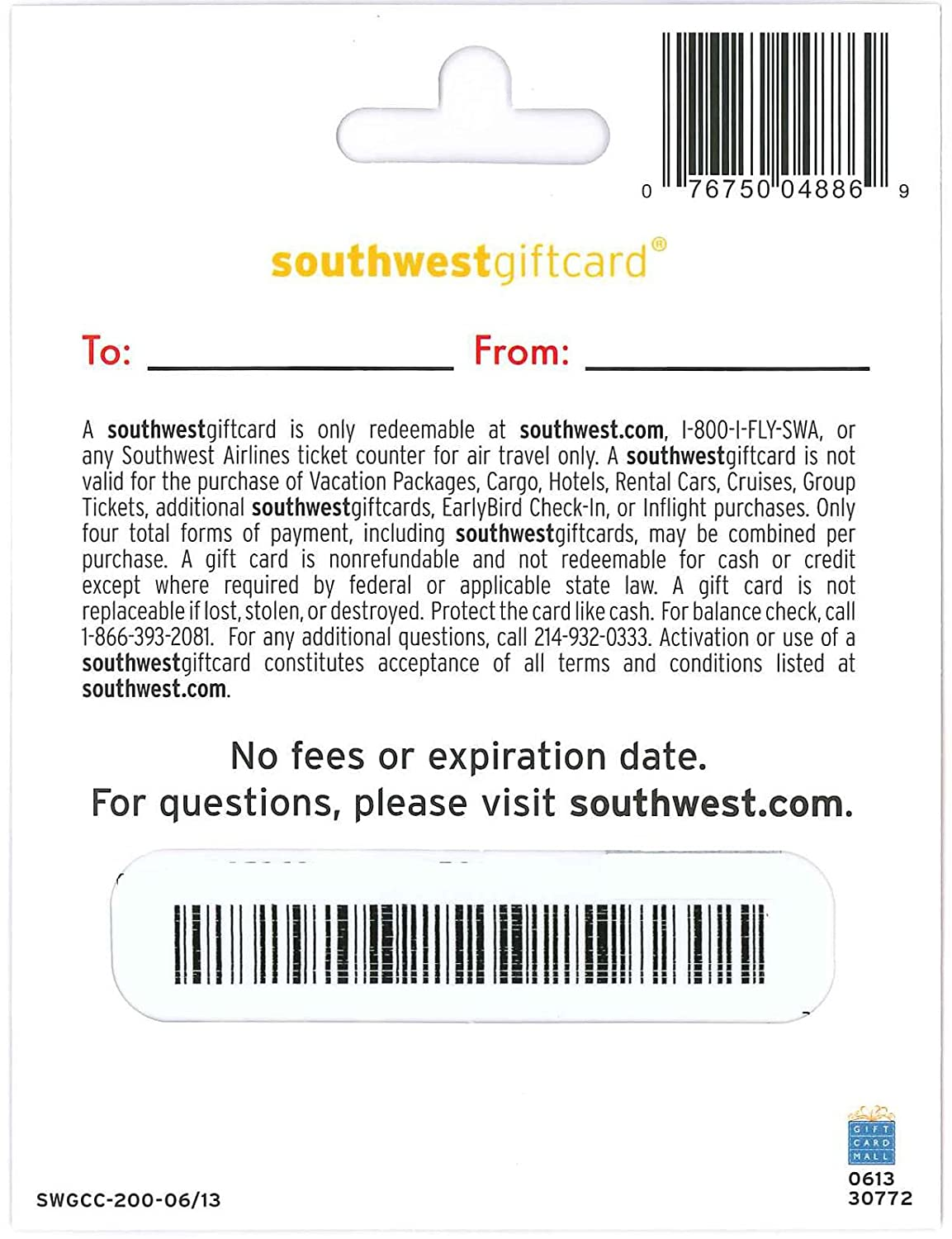 Amazon southwest airlines gift card 50 gift cards 1betcityfo Image collections