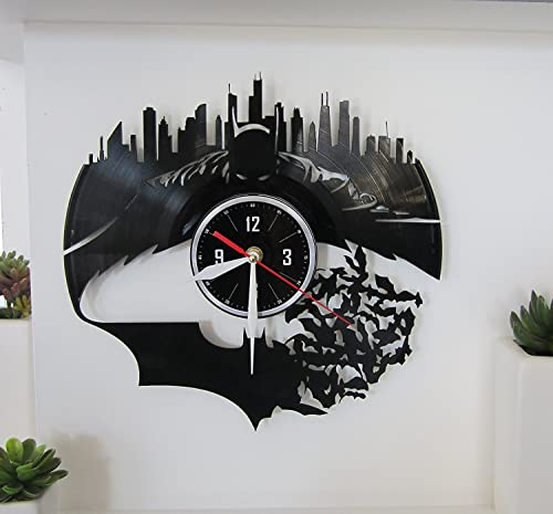 BATMAN Vinyl wall clock – great gift for birthday, anniversary or any other occasion – beautiful home decor – unique design that made out of retro vinyl record