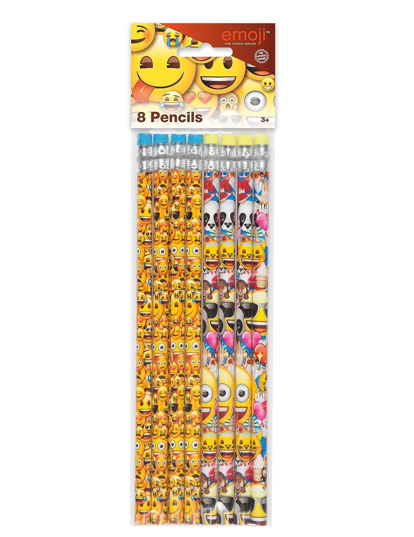 8 Crayons à papier Emoji - taille - Taille Unique - 236614