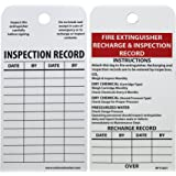 NMC RPT26ST Tags FIRE EXTINGUISHER RECHARGE INSPECTION RECORD 6 Height